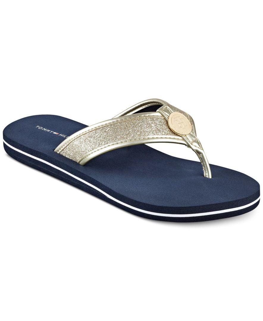 Popular Tommy Hilfiger Womens Yara Akle Strap Wedge Sandals In Black  Lyst