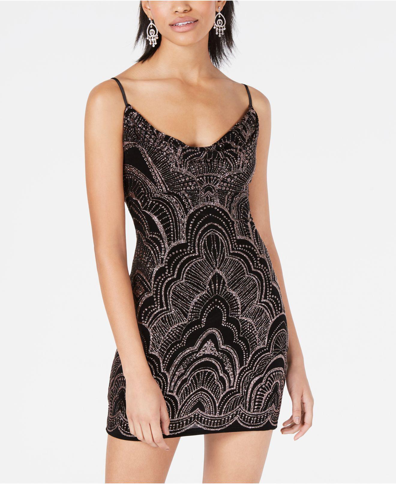 f1864d8b4c7a9 Lyst - Jump Juniors  Glitter-print Bodycon Dress in Black