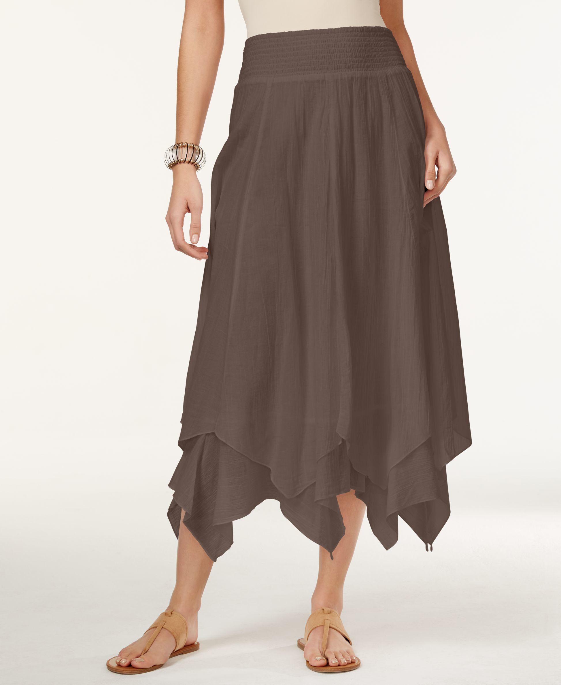 Style & Co. Petite Handkerchief-hem Skirt, Only At Macy's