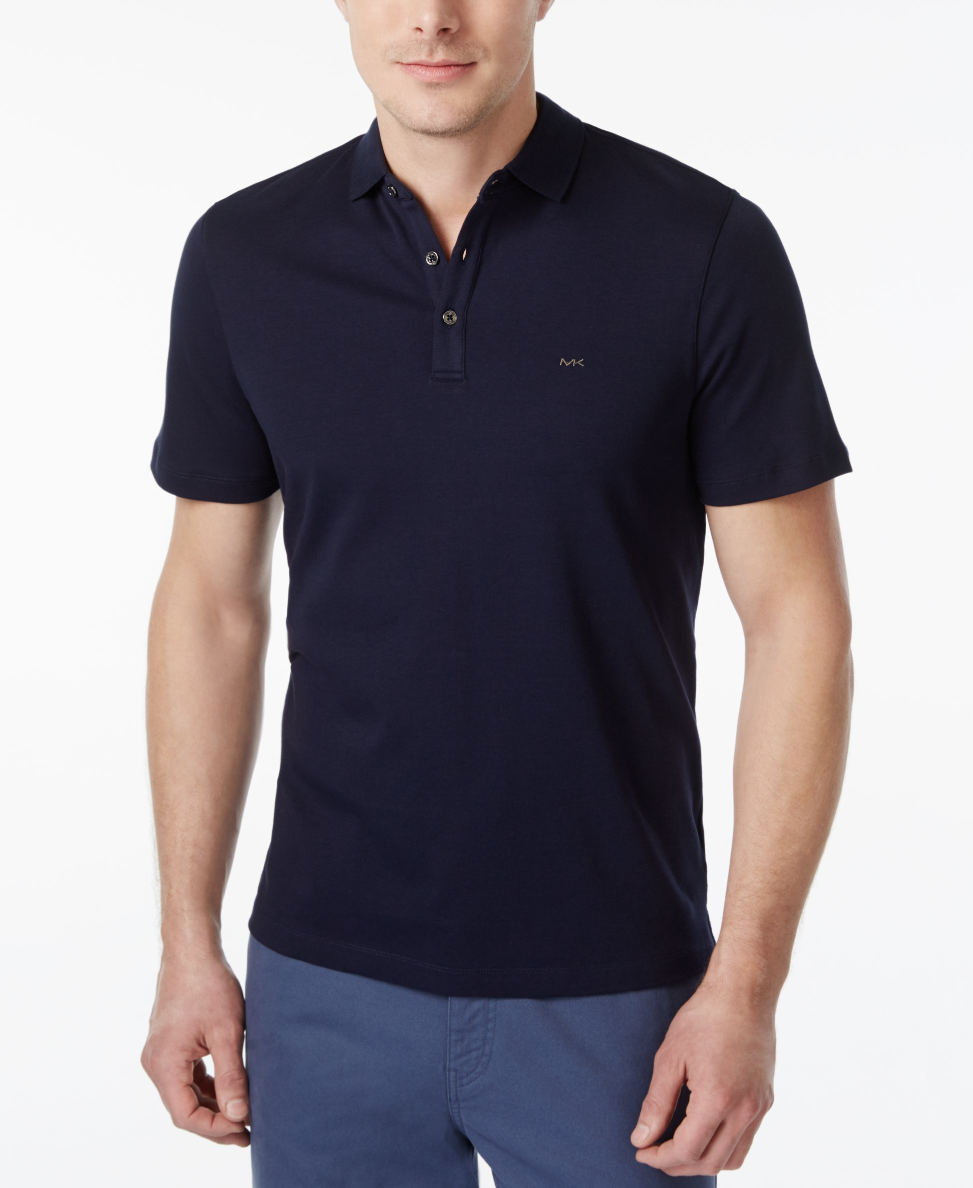 michael kors men 39 s liquid polo shirt in black for men lyst