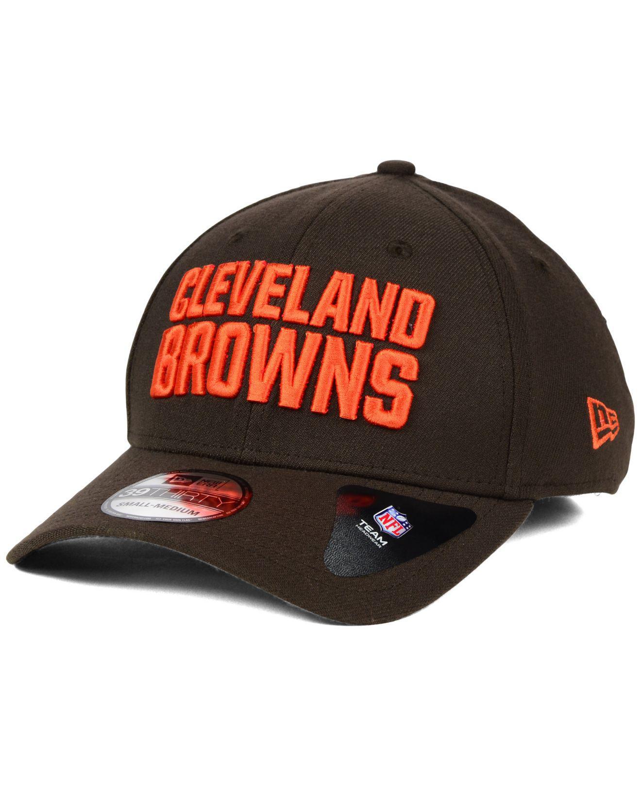 7640826aec8 ... ireland lyst ktz cleveland browns new team classic 39thirty cap in  brown eba67 bf2cd