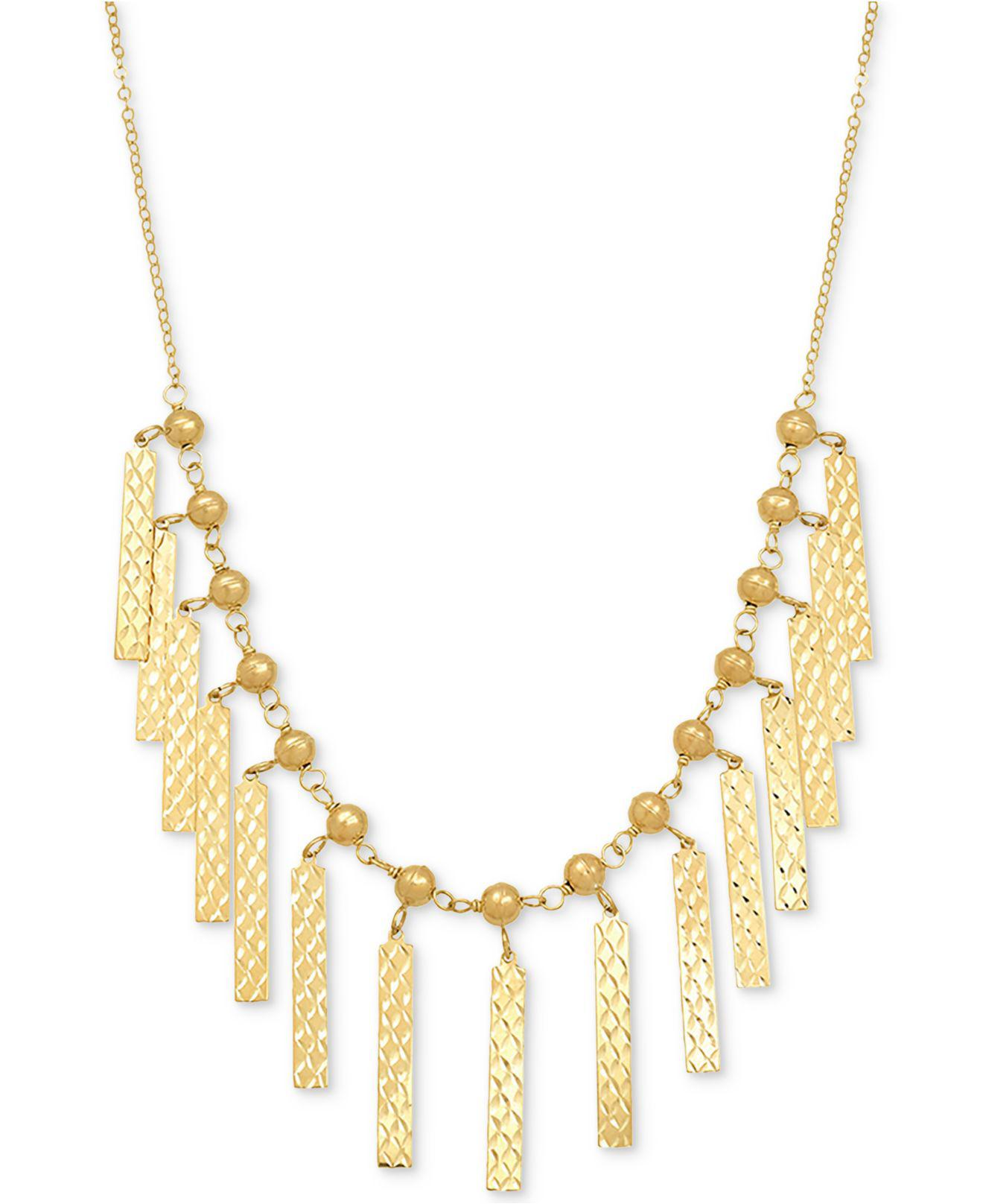 6e401a9bb5a470 Lyst - Macy's Cleopatra Collar Necklace In 10k Gold in Metallic