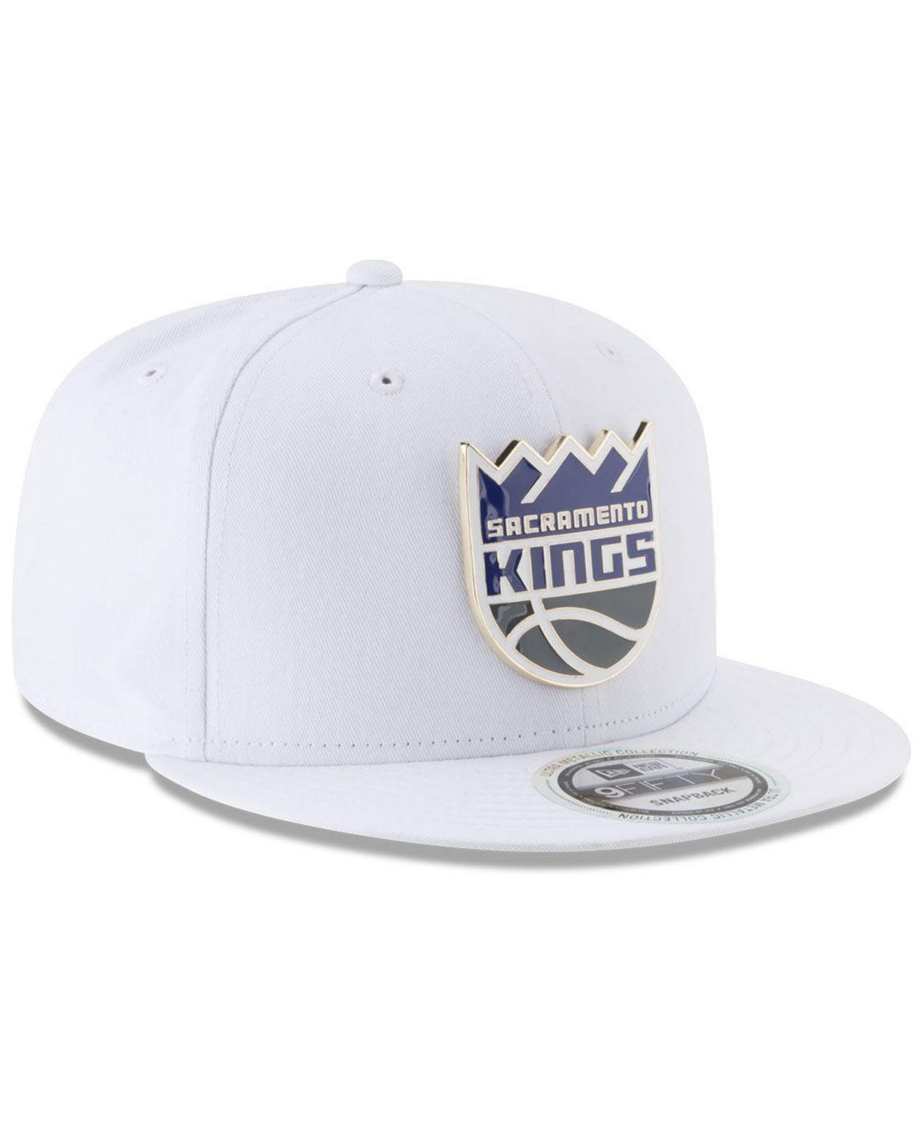reputable site 0ab9a 2dd83 Lyst - KTZ Sacramento Kings Enamel Badge 9fifty Snapback Cap in ...