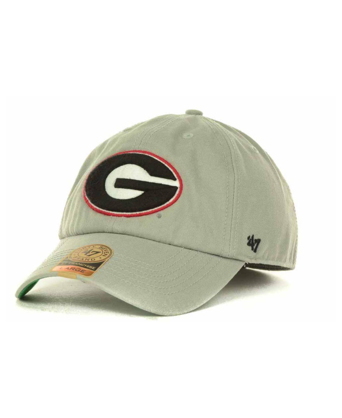 a320906fb59 Lyst - 47 Brand Georgia Bulldogs Franchise Cap in Gray for Men