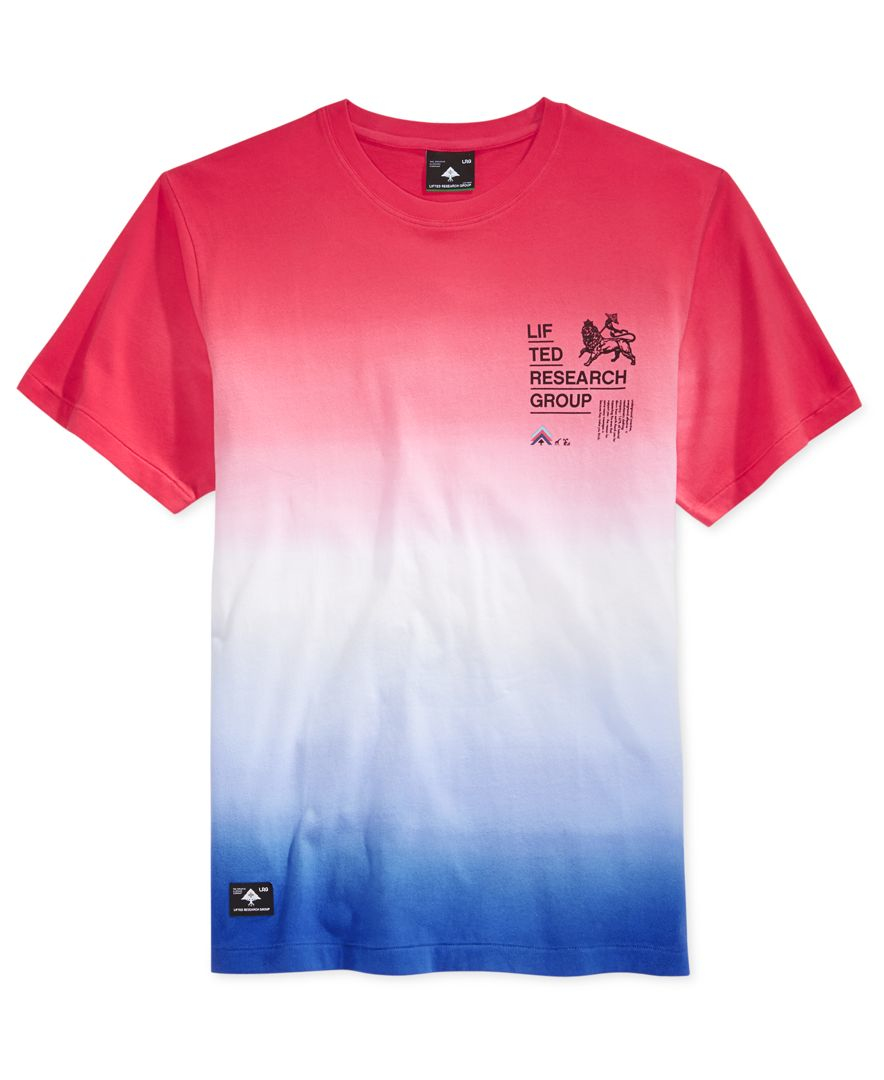 Lrg men 39 s big tall roots rock ombre stripe graphic print for Big and tall rock t shirts