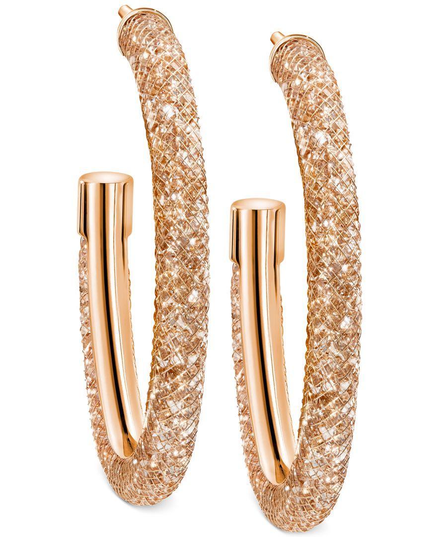 Lyst - Swarovski Stardust Hoop Earrings in Metallic 9e0e0817c