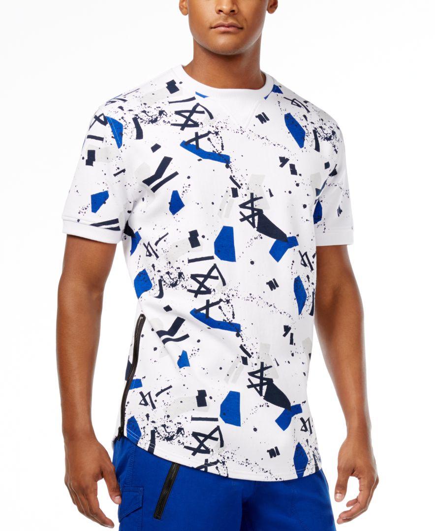 Lyst sean john men 39 s graffiti print t shirt in blue for men for Sean john t shirts for mens