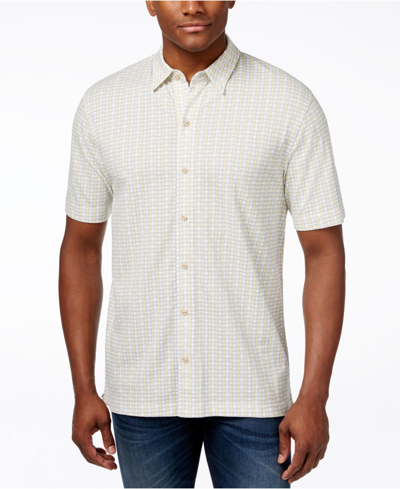 Lyst cutter buck cutter and buck big and tall button for Big and tall button up shirts