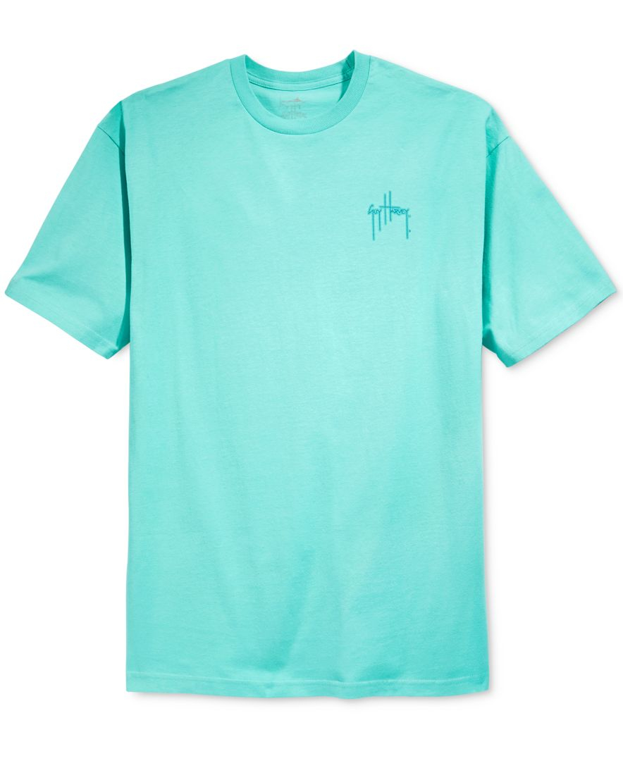 Guy Harvey Men 39 S Tagged Graphic T Shirt In Blue For Men