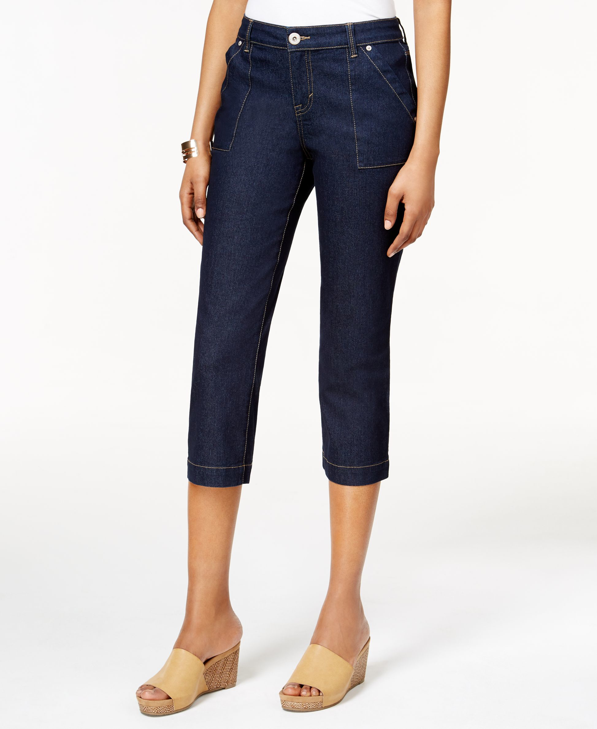 Lyst Style Amp Co Cropped Rinse Wash Jeans Only At Macy