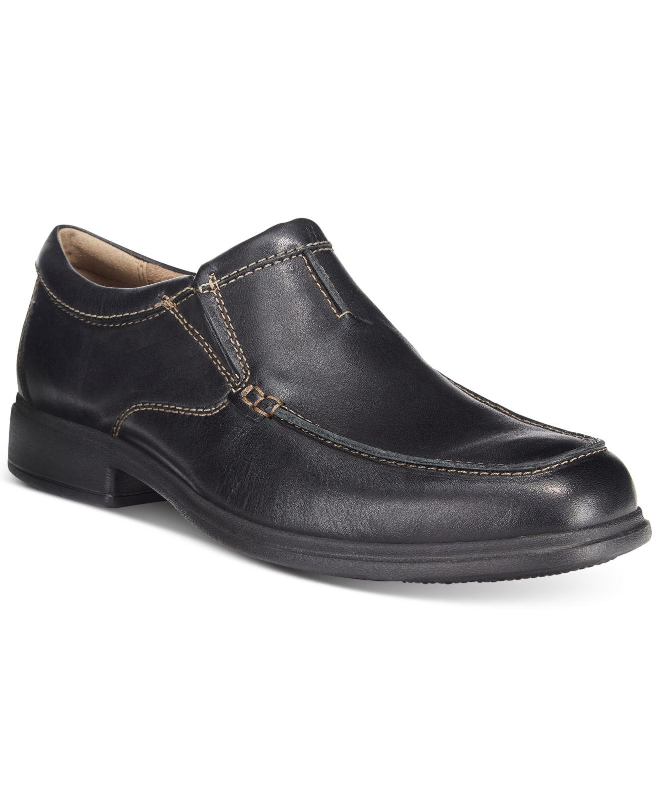 Bostonian Mens Black Leather Shoes