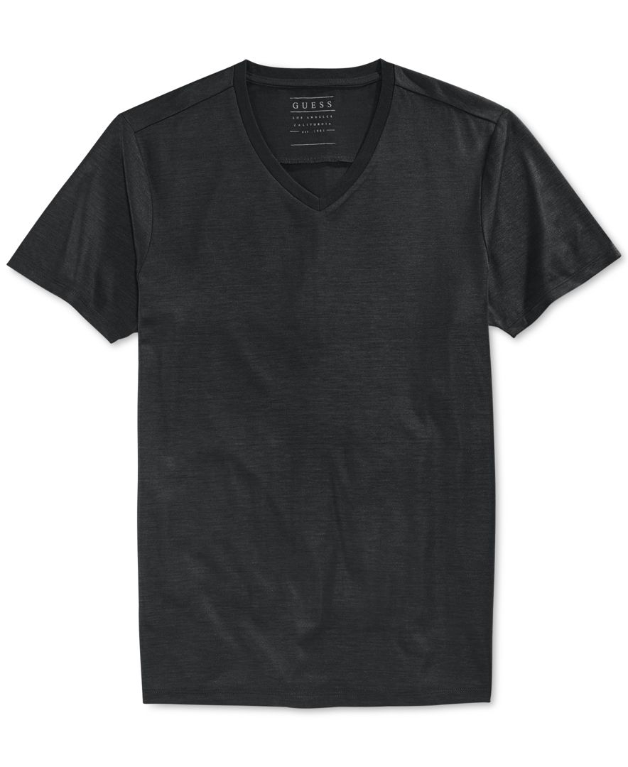 Guess Men 39 S Mason Yoke T Shirt In Black For Men Jet Black