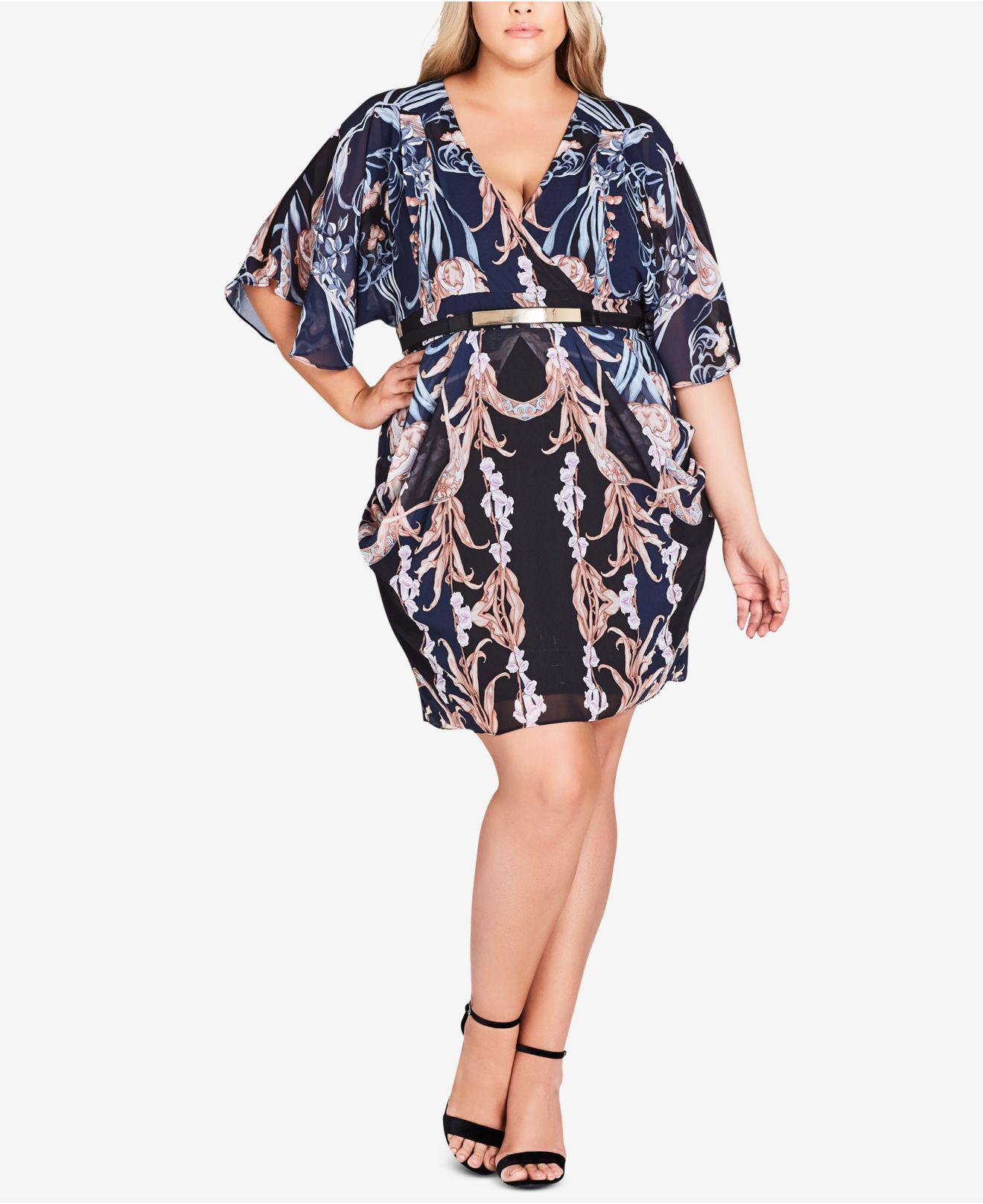 261b8234d22c7 City Chic. Women s Trendy Plus Size Belted Drape Dress