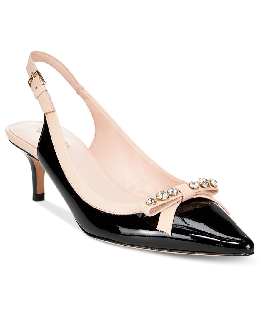 2ee6462b683 Lyst - Kate Spade New York Palina Slingback Pumps in Black