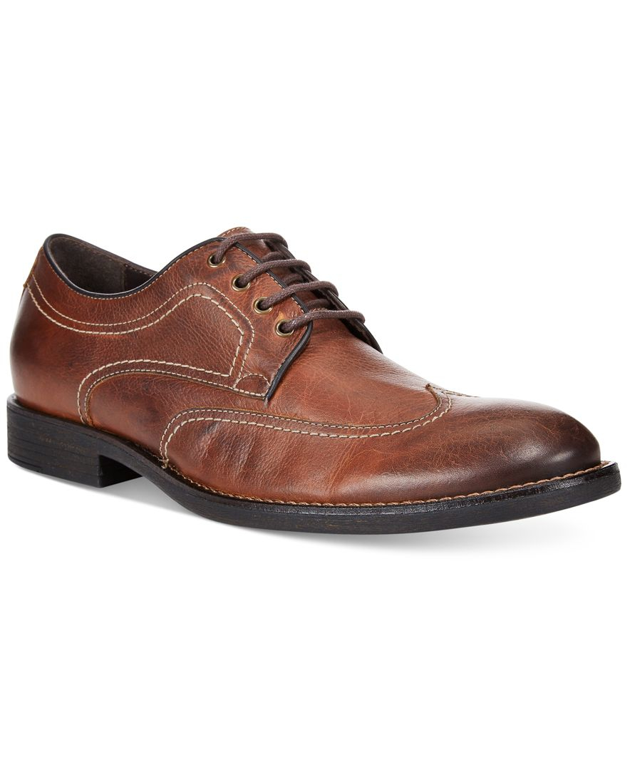 Johnston Murphy Men 39 S Selby Wingtip Oxfords In Brown For