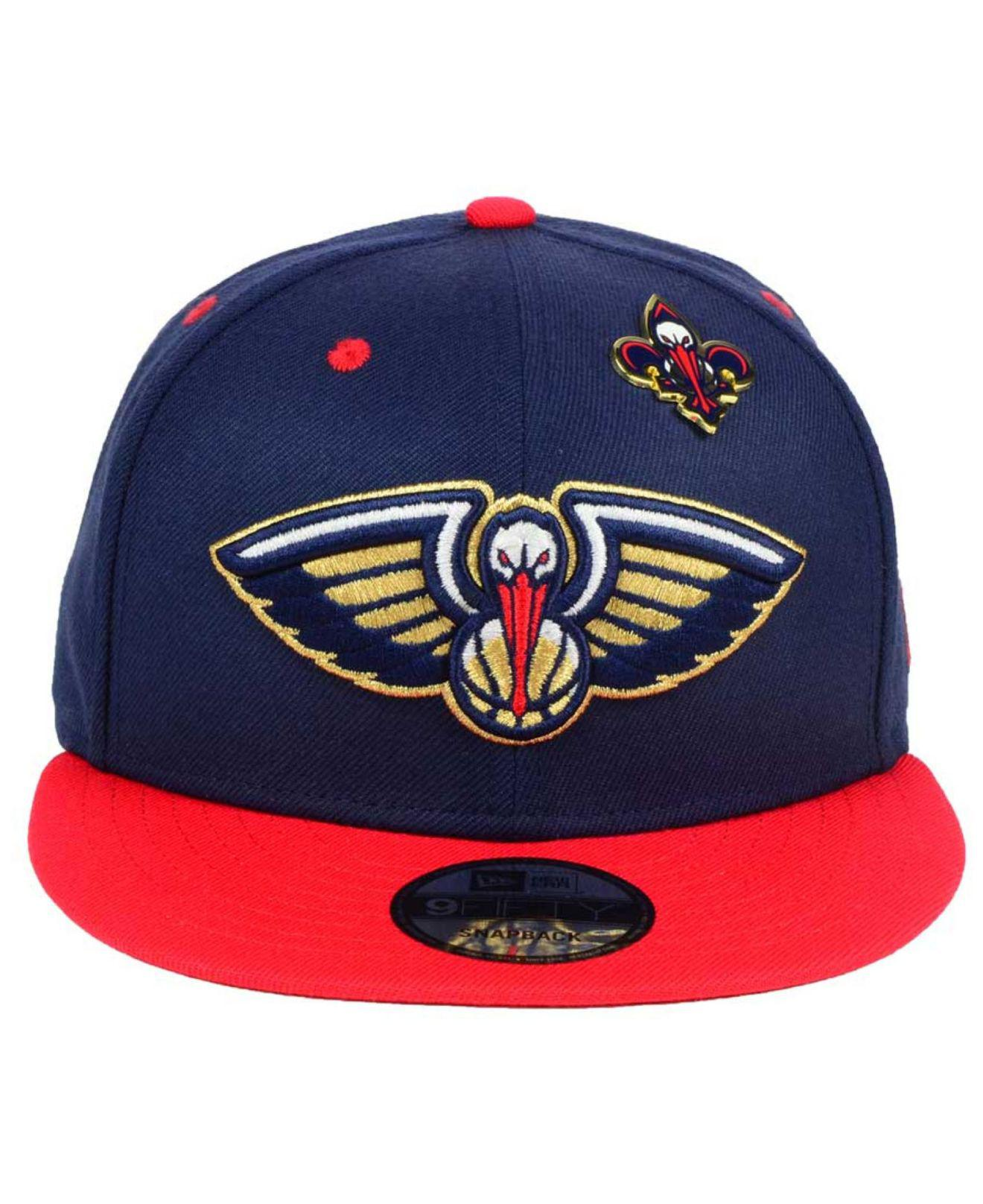 uk availability 0d616 5834a ... sweden lyst ktz new orleans pelicans pintastic 9fifty snapback cap in  blue for men 86eb4 ff220