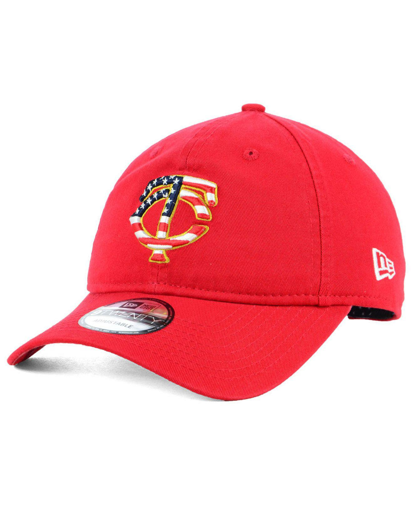 new concept b4803 89b51 Lyst - KTZ Minnesota Twins Stars And Stripes 9twenty Strapback Cap ...