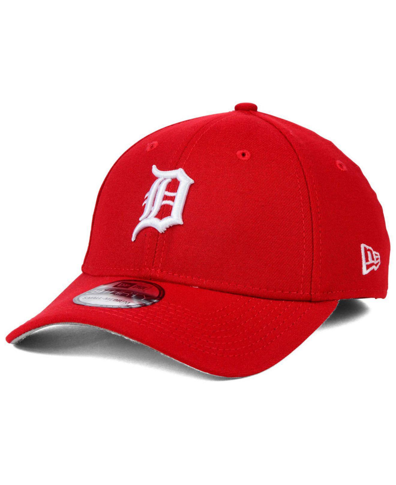 100% authentic e7c7e 4592e Lyst - KTZ Detroit Tigers Fashion 39thirty Cap in Red for Men