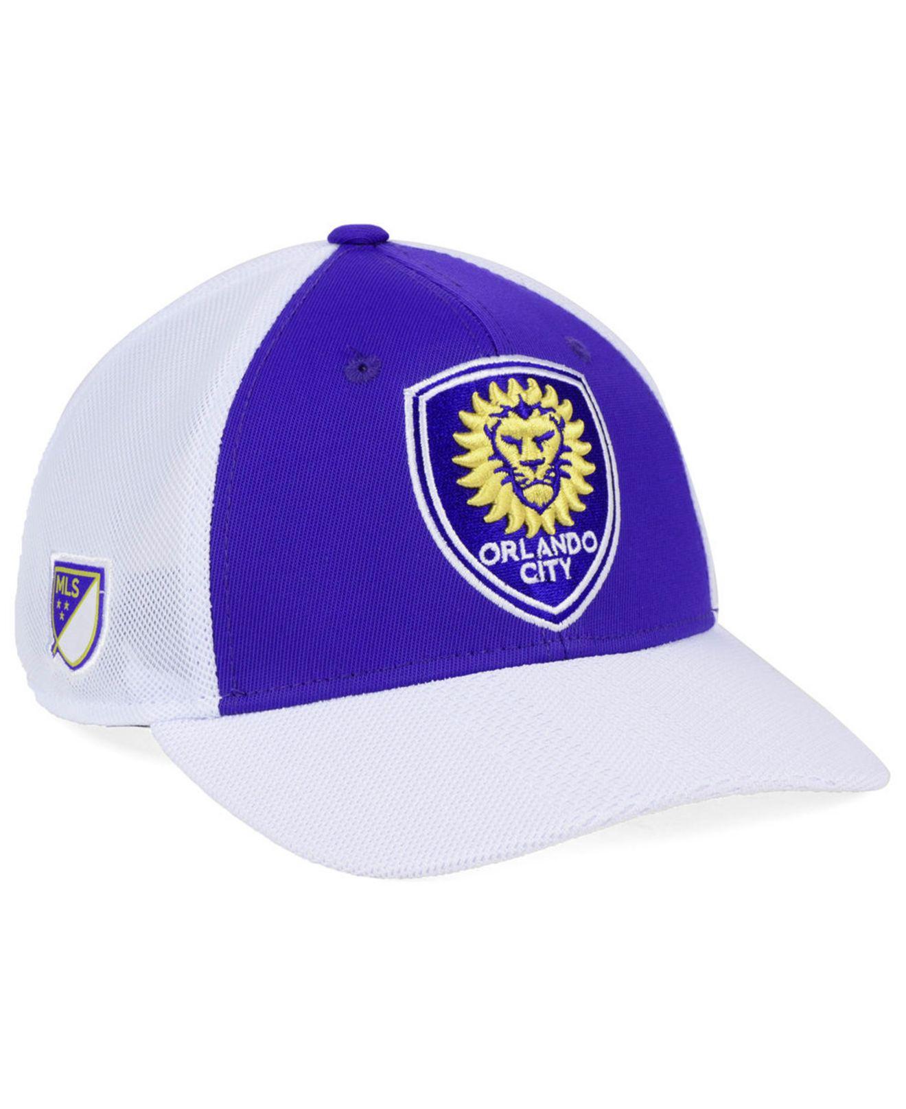 new concept 53bcb 2267a adidas. Men s Purple Orlando City Sc Authentic Mesh Adjustable Cap