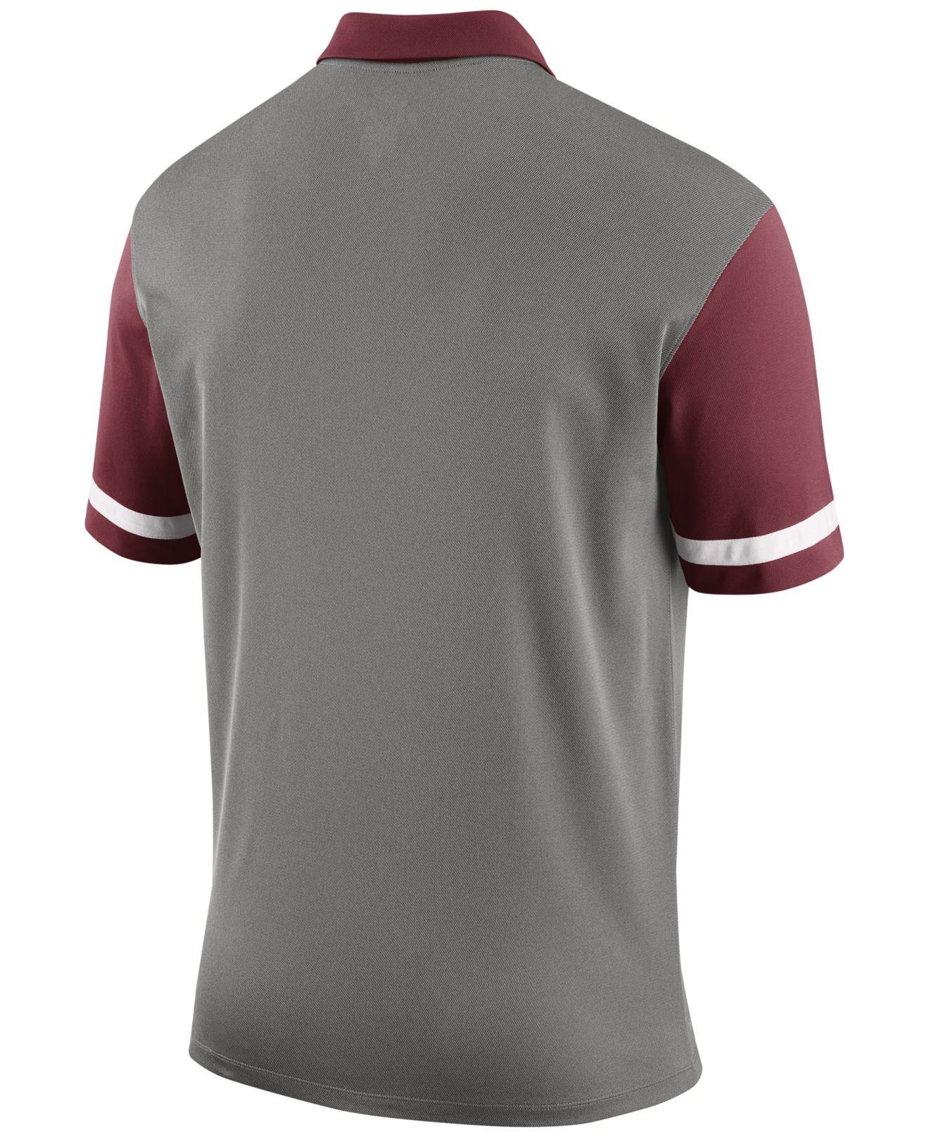 Nike men 39 s alabama crimson tide stadium team first stripe for Alabama crimson tide polo shirts
