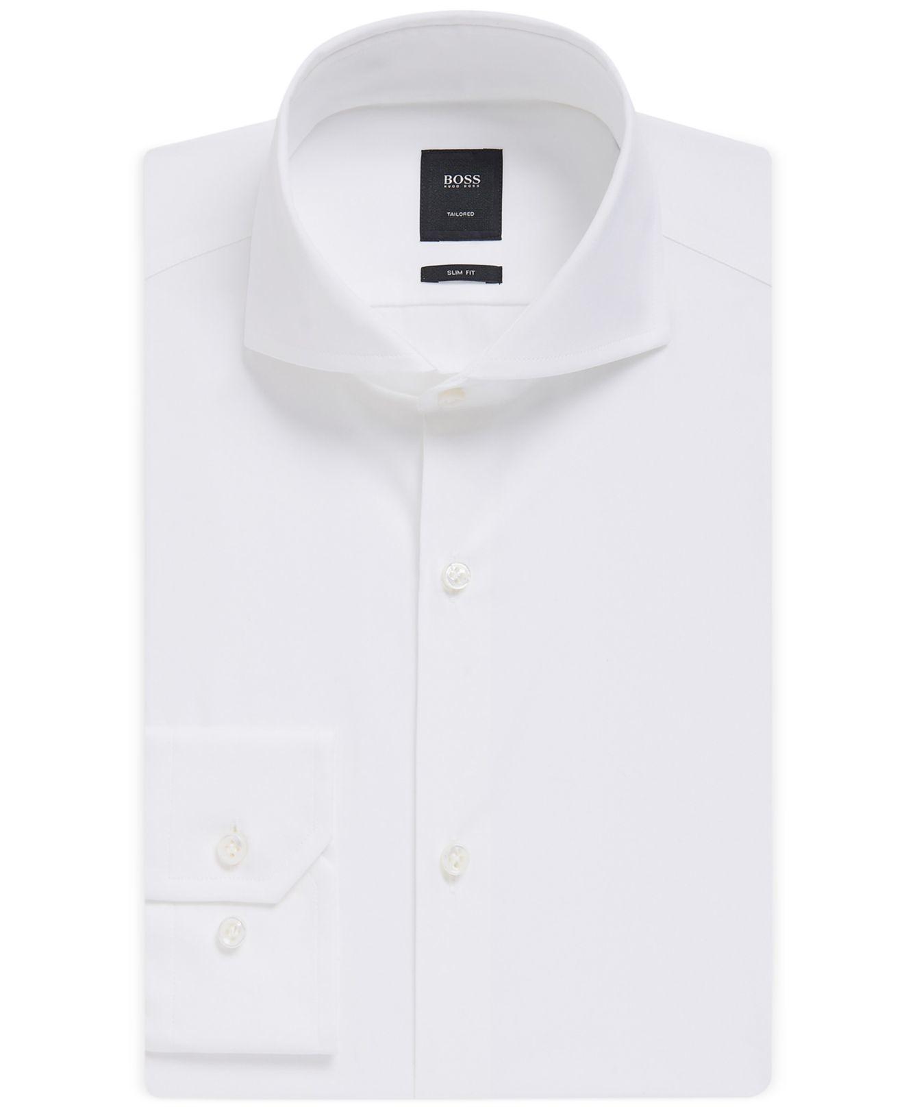 Boss Boss Slim Fit Tailored Italian Dress Shirt In White