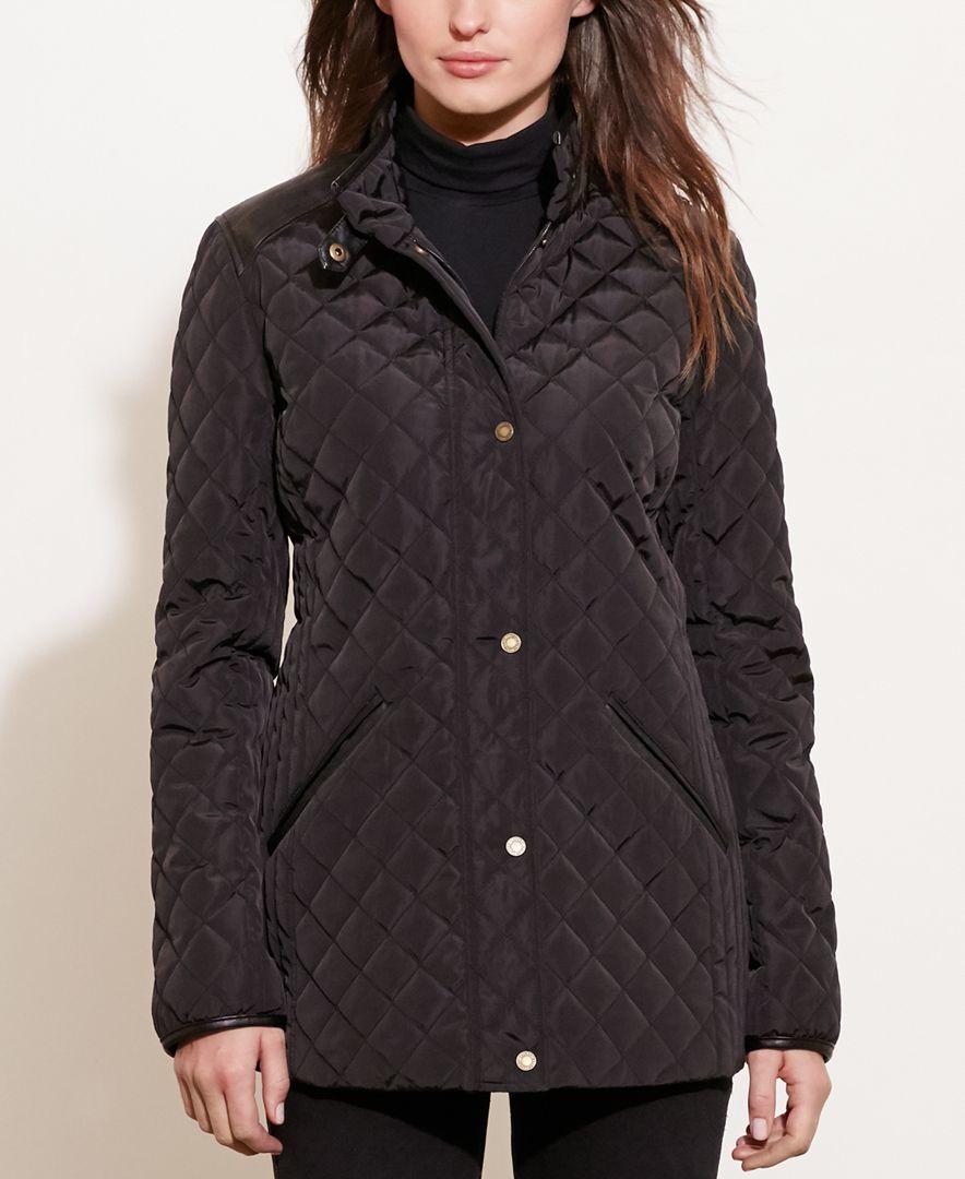 Lauren By Ralph Lauren Diamond-quilted Jacket Only At Macyu0026#39;s In Black | Lyst