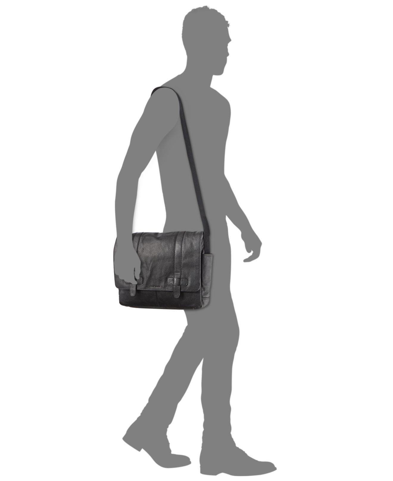 a5379e5f0d92 Lyst - Cole Haan Men s Barrington Messenger Bag in Black for Men