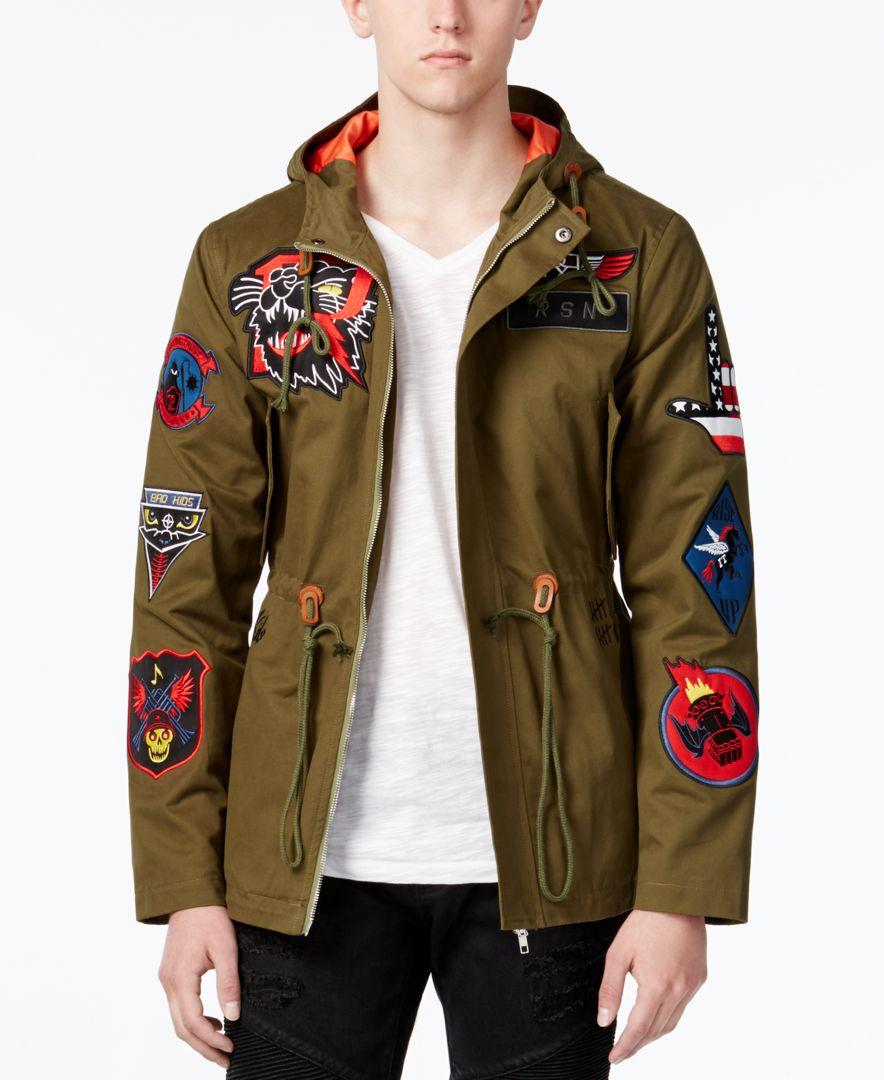 Reason Men's Hawker Patches Fish Tail Parka in Green for Men | Lyst