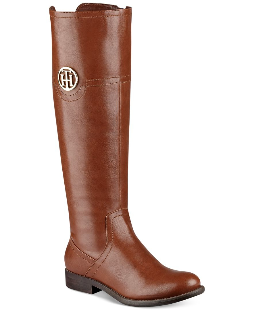 tommy hilfiger silvana riding boots in brown lyst. Black Bedroom Furniture Sets. Home Design Ideas