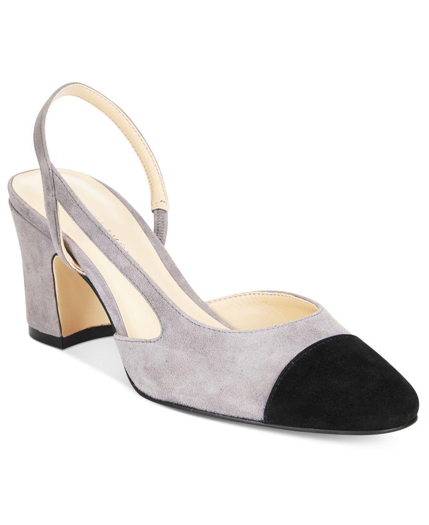8acf87a6619 Lyst - Ivanka Trump Liah Slingback Block-heel Pumps in Gray