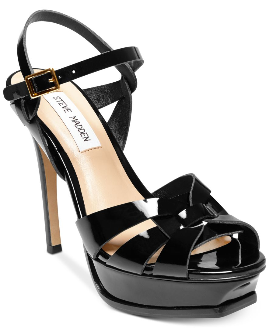 cbda64ba346 Lyst - Steve Madden Women s Kananda Platform High-heel Sandals in Black