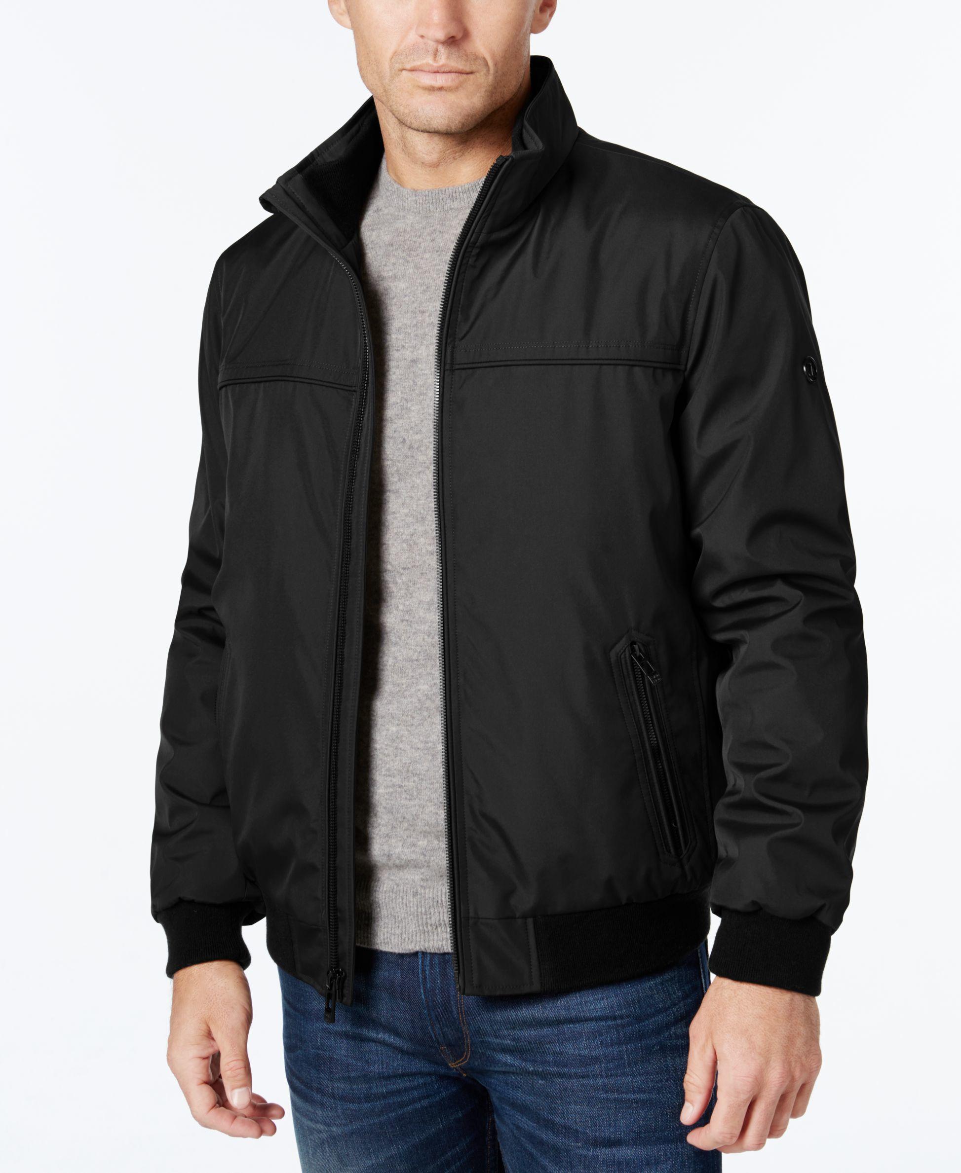 Calvin Klein Men S Stand Collar Bomber Jacket In Black For