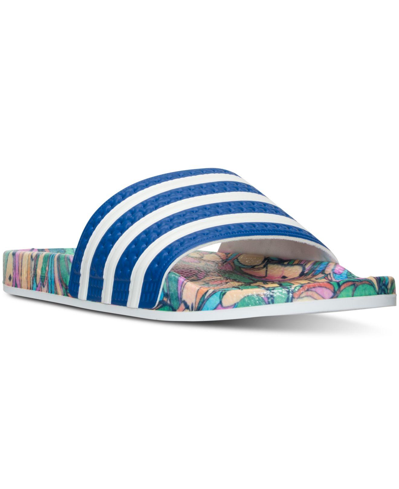 2955d1825edb Lyst - adidas Originals Women s Adilette Farm Slide Sandals From ...