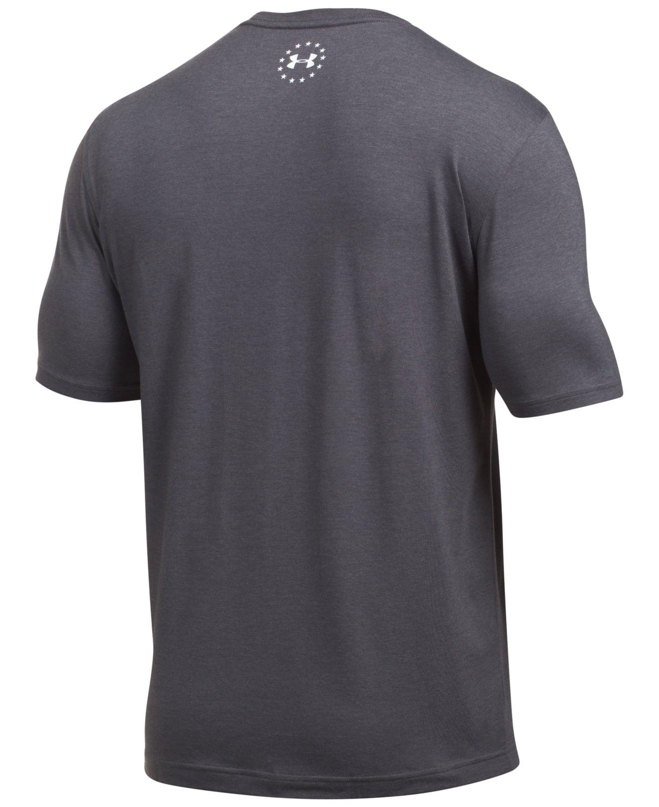 Lyst Under Armour Men 39 S Performance Logo T Shirt In Gray