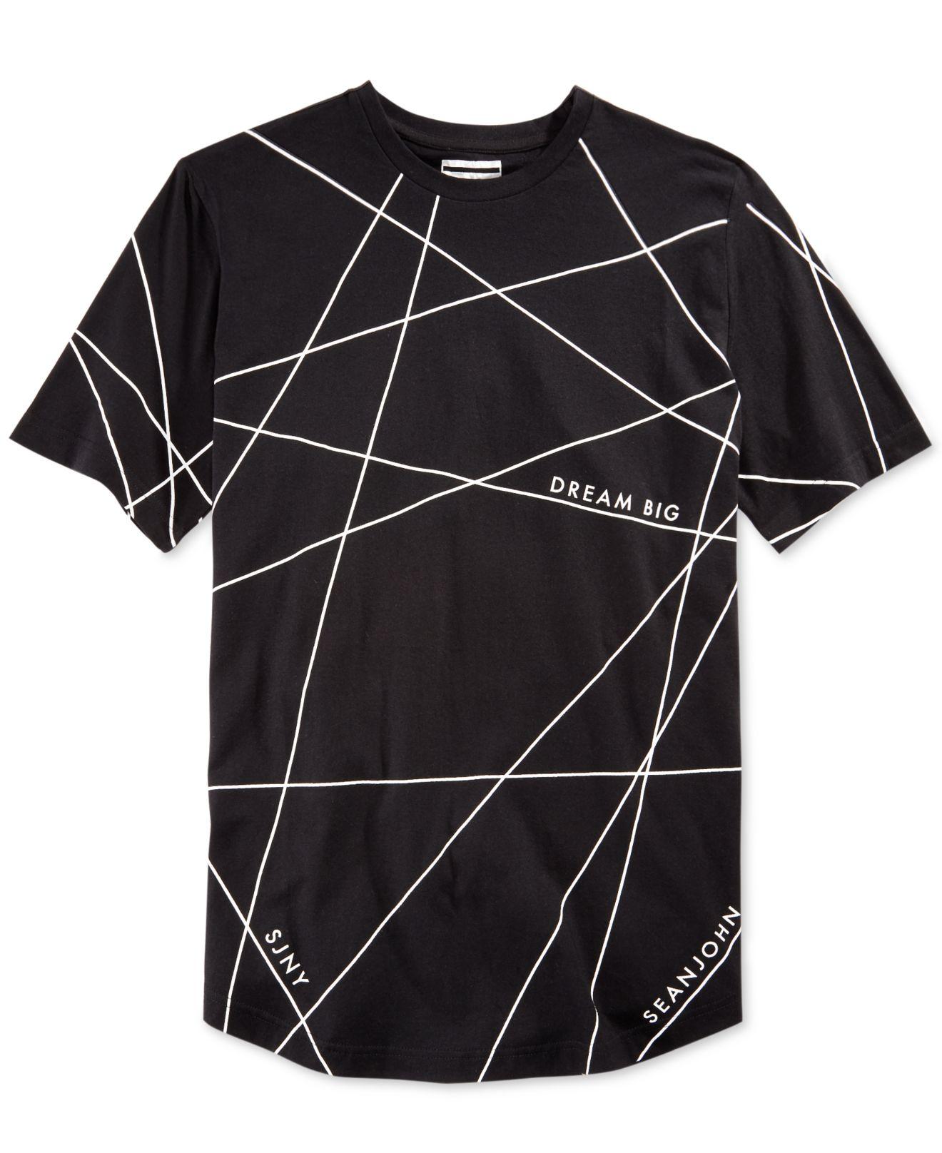 Lyst sean john men 39 s big tall graphic print t shirt in for Sean john t shirts for mens