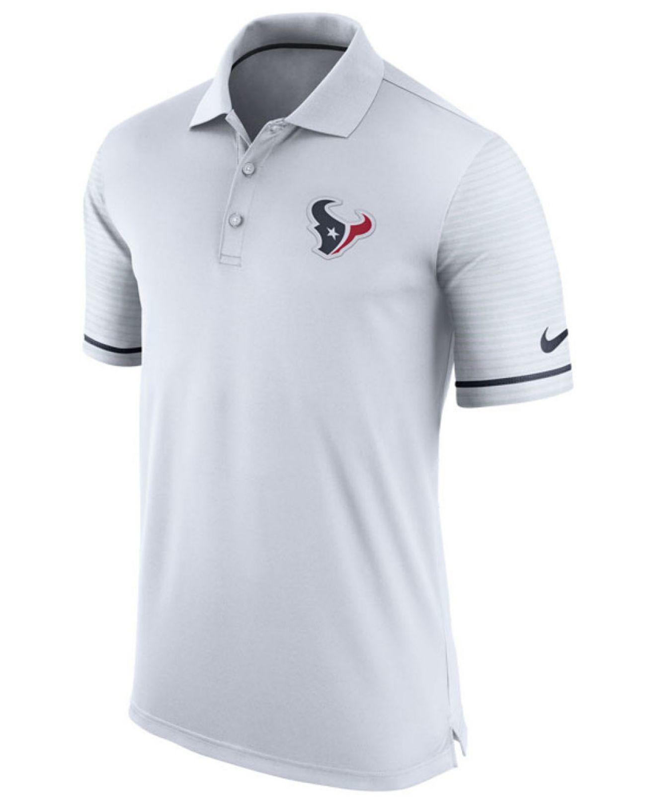 Nike Men 39 S Houston Texans Early Season Polo Shirt In White