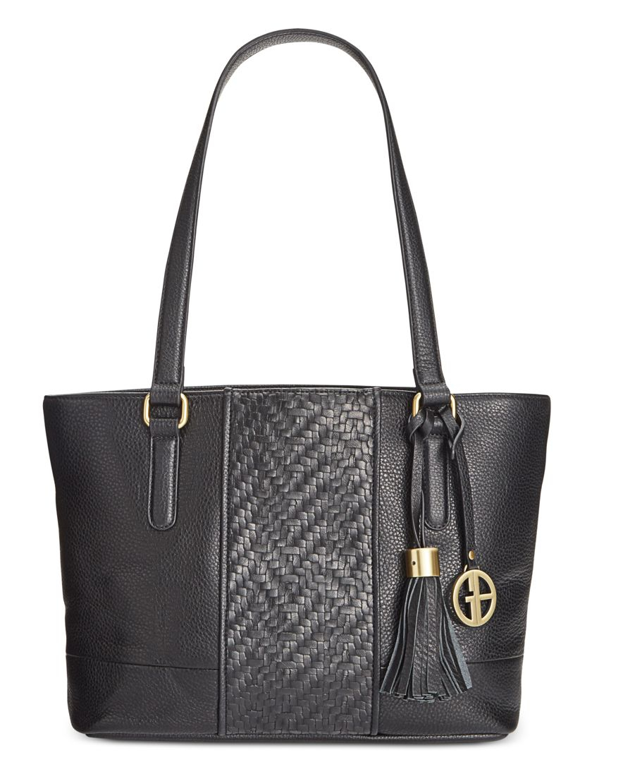 Giani bernini Pebble Weave Tote, Only At Macy's in Black ...