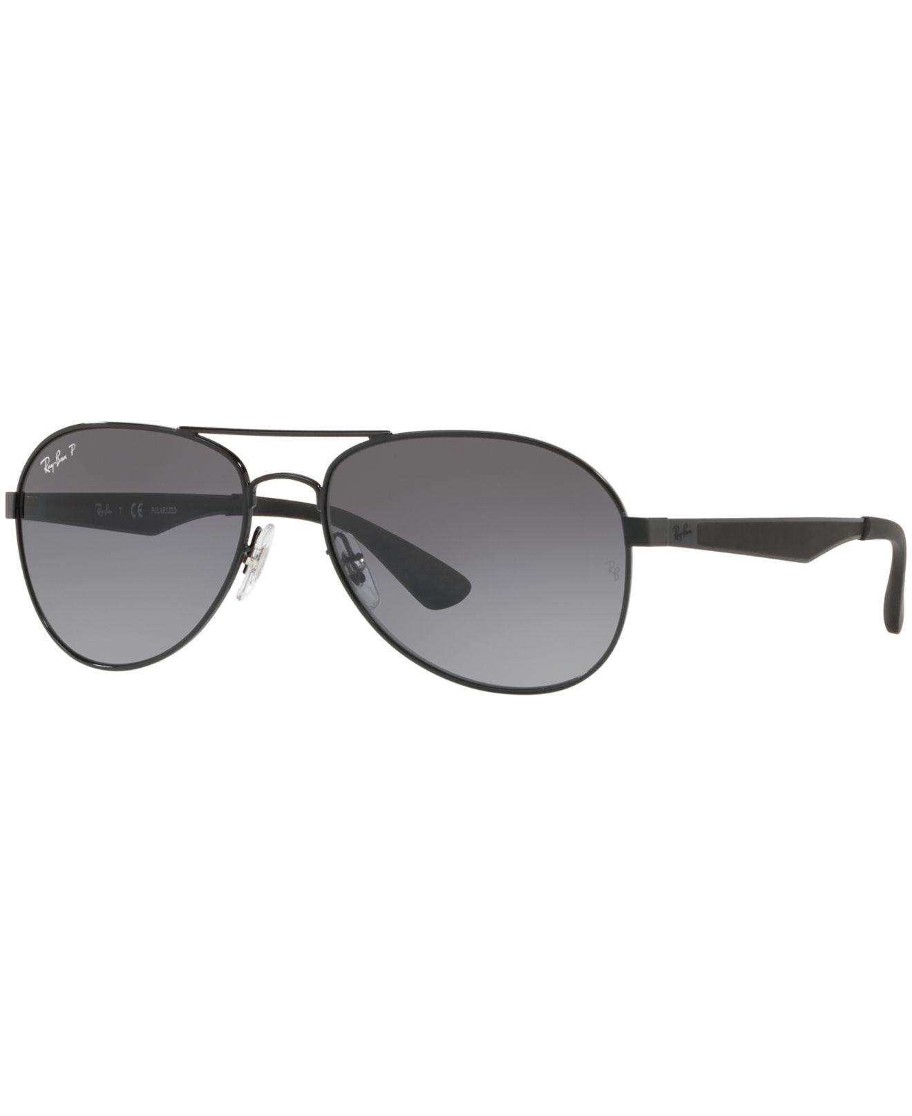 e921a66372 Ray-Ban. Men s Black Polarized Sunglasses ...