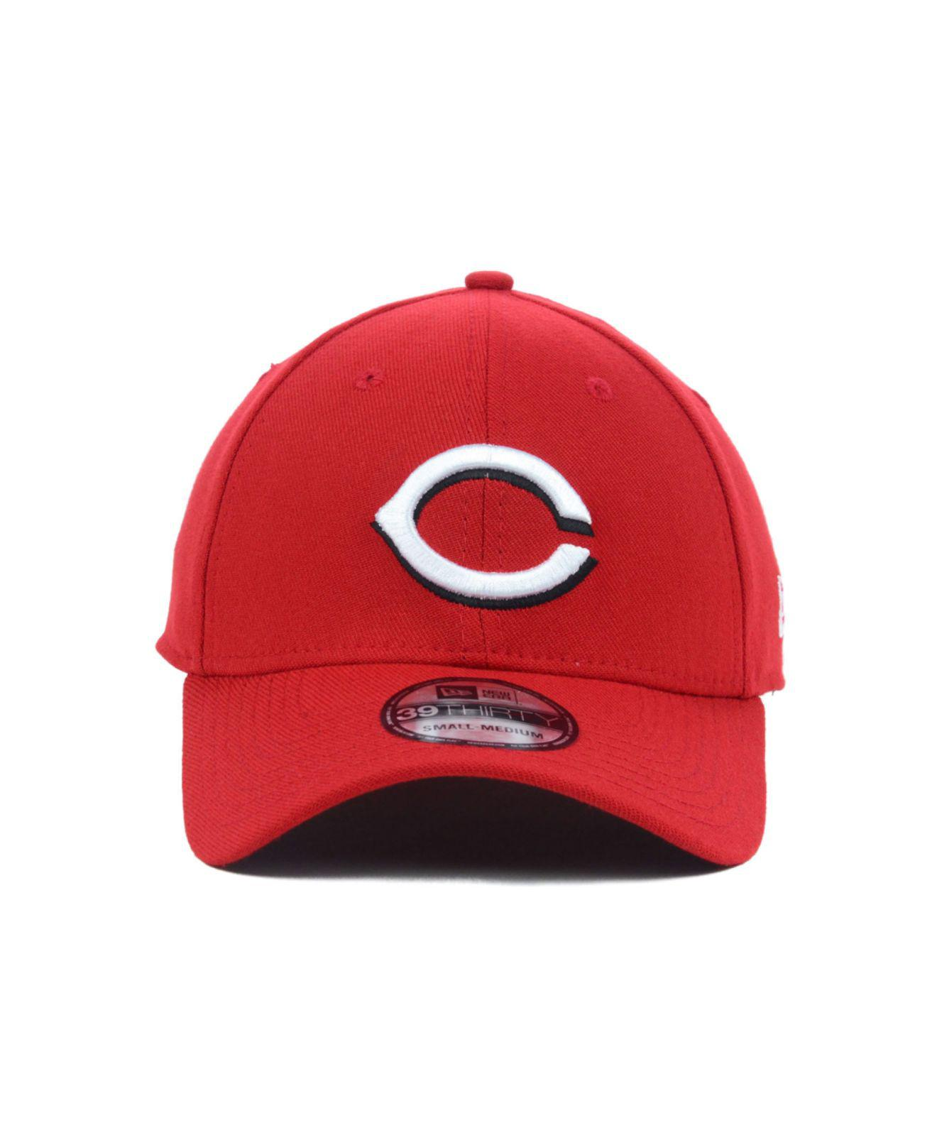 new style 4bc09 7397f ... sweden lyst ktz cincinnati reds mlb team classic 39thirty cap in red  for men 4f7bf cf38d