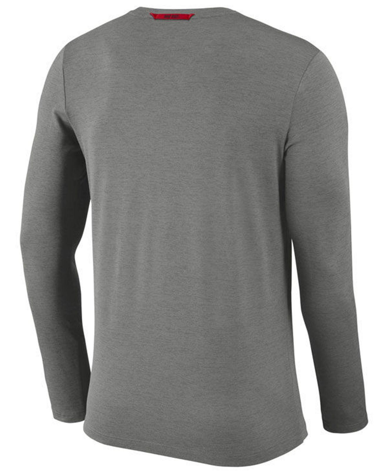 Lyst Nike Ohio State Buckeyes Long Sleeve Dri Fit Coaches T Shirt