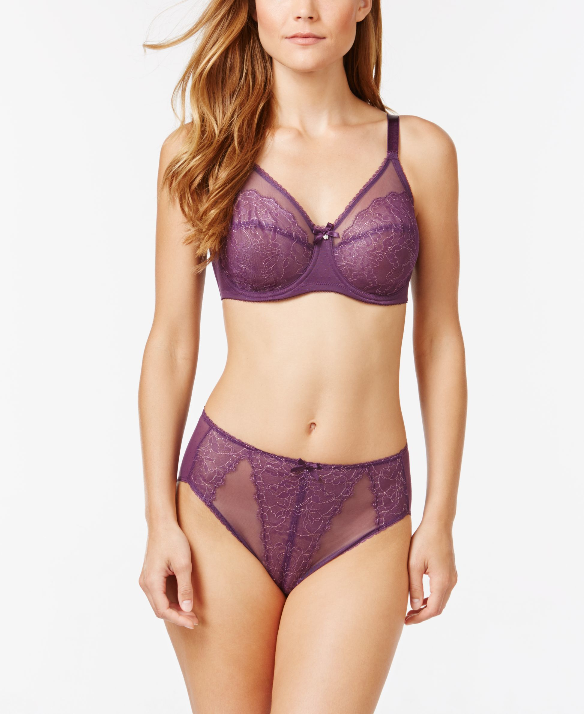 Wacoal Retro Chic Full-figure Underwire Bra 855186 in Purple | Lyst