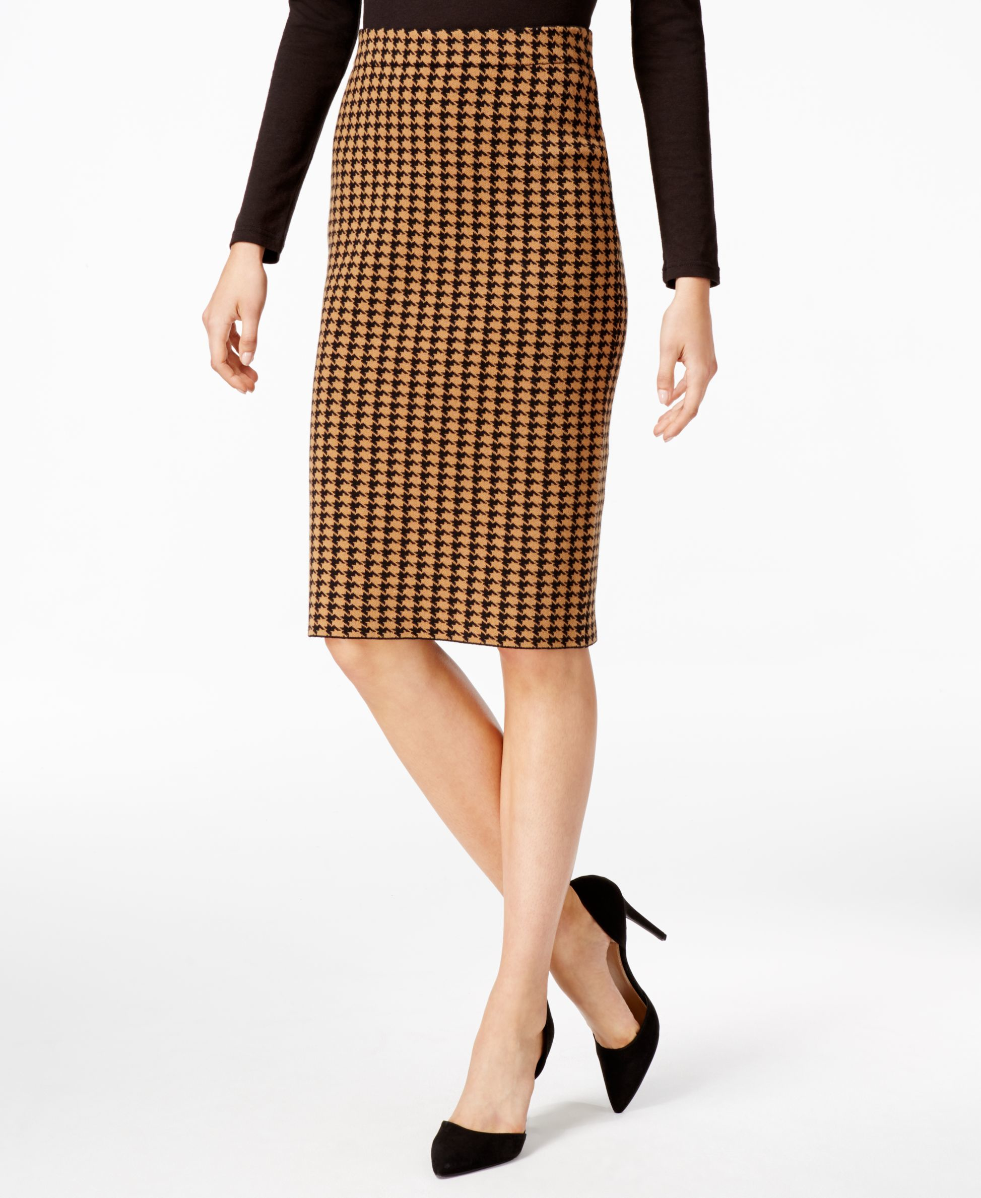 charter club houndstooth pencil skirt only at macy s in