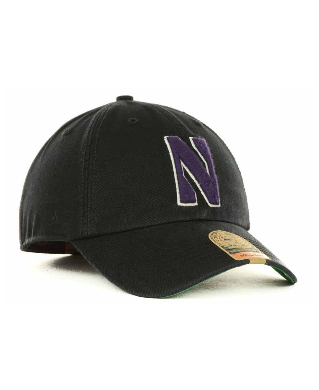 47 Brand - Black Northwestern Wildcats Franchise Cap for Men - Lyst. View  fullscreen bdb8b1bc9103