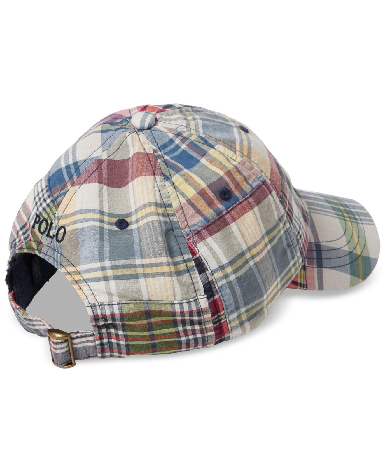 33201949d Polo Ralph Lauren Madras Baseball Cap for Men - Lyst