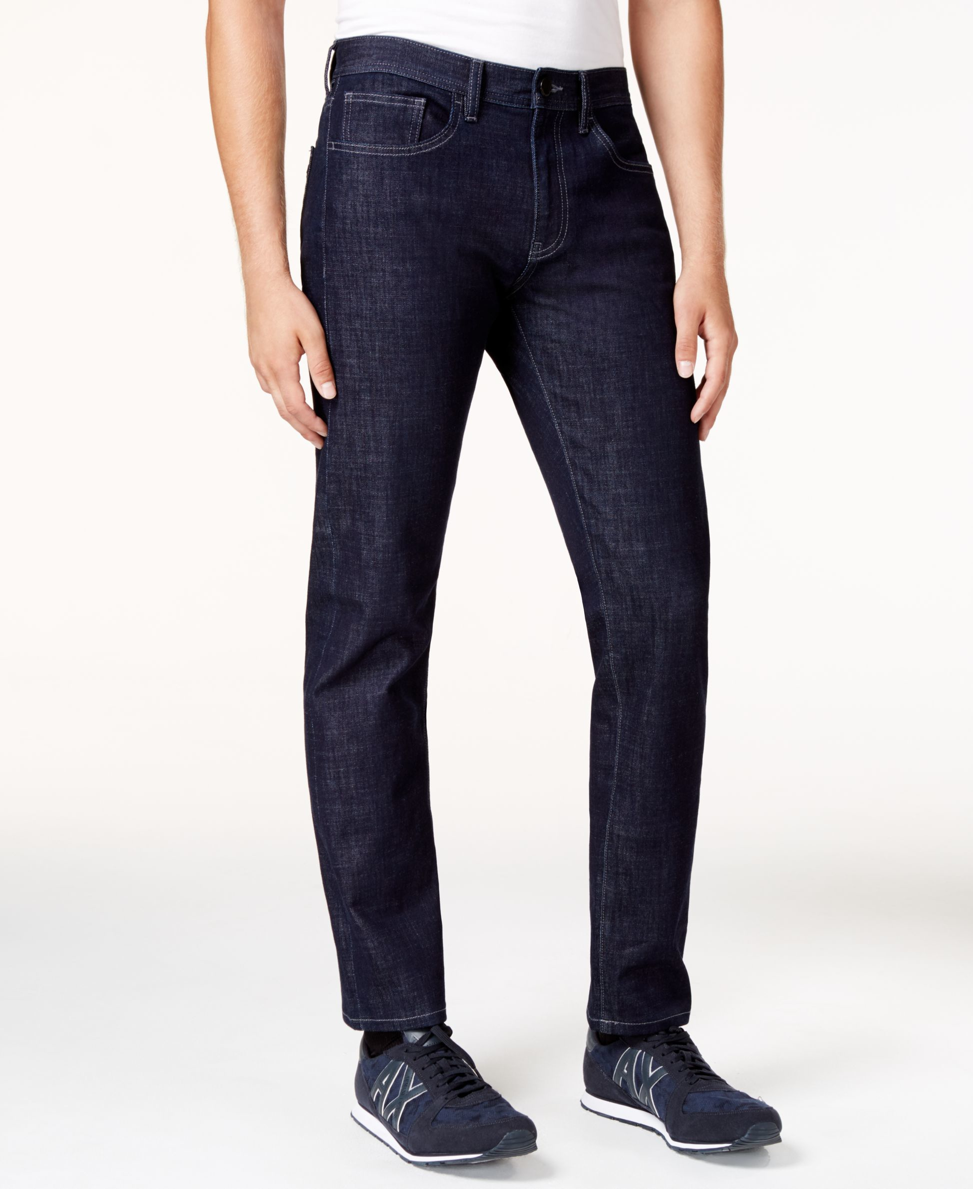 Armani exchange Menu0026#39;s Straight-fit Jeans in Blue for Men (Solid Blue) | Lyst
