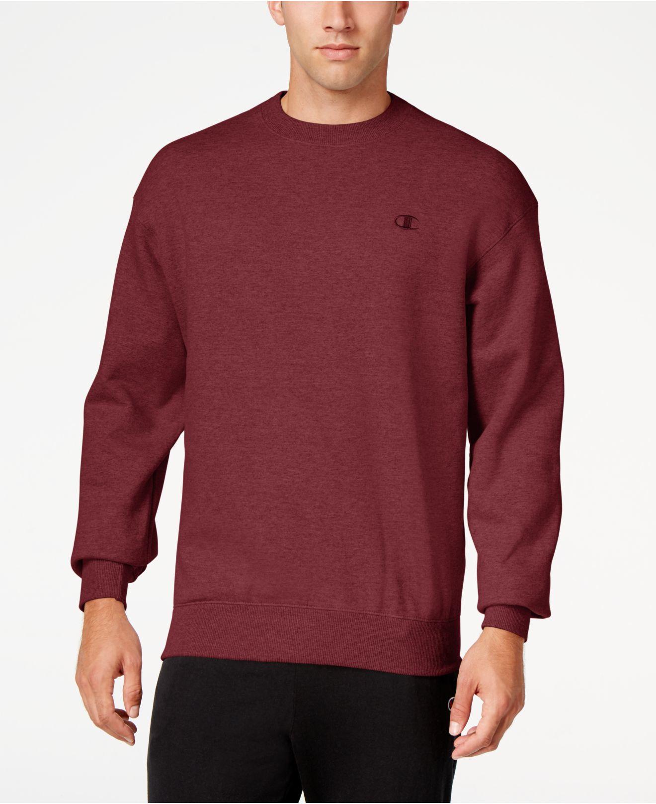 Champion Men S Powerblend Fleece Sweatshirt In Red For Men