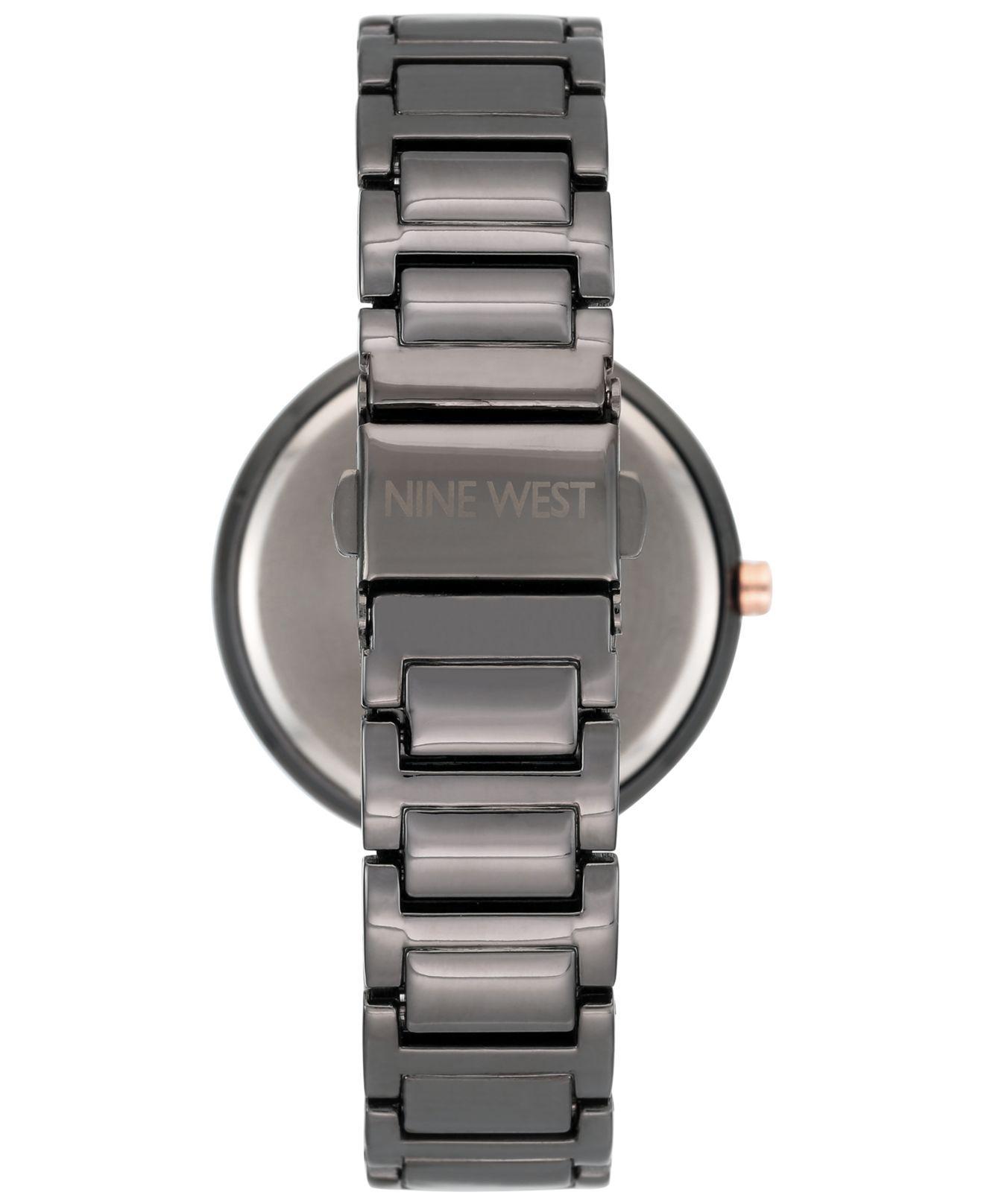 Lyst - Nine West Women s Gunmetal Bracelet Watch 36mm Nw-1893gnrt in ... edce6a3e33