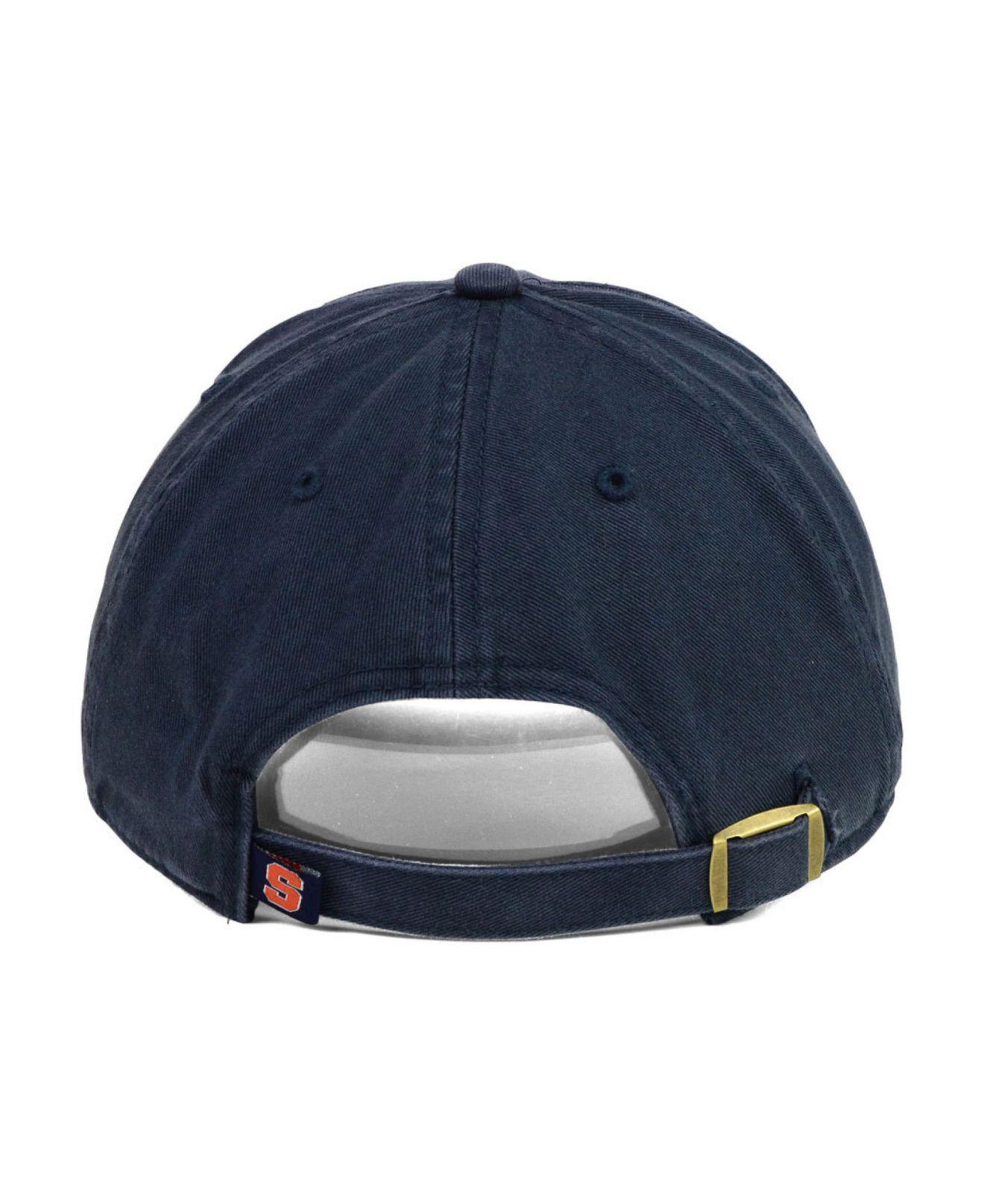 huge discount 5e7ab 1cf87 ... where can i buy lyst 47 brand syracuse orange clean up cap in blue for  men
