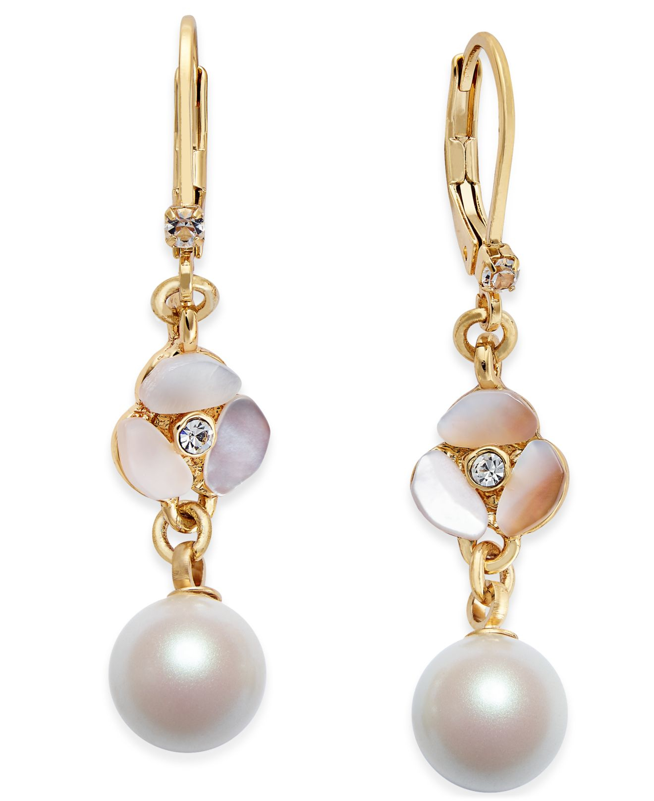 kate spade new york gold tone imitation pearl decorative