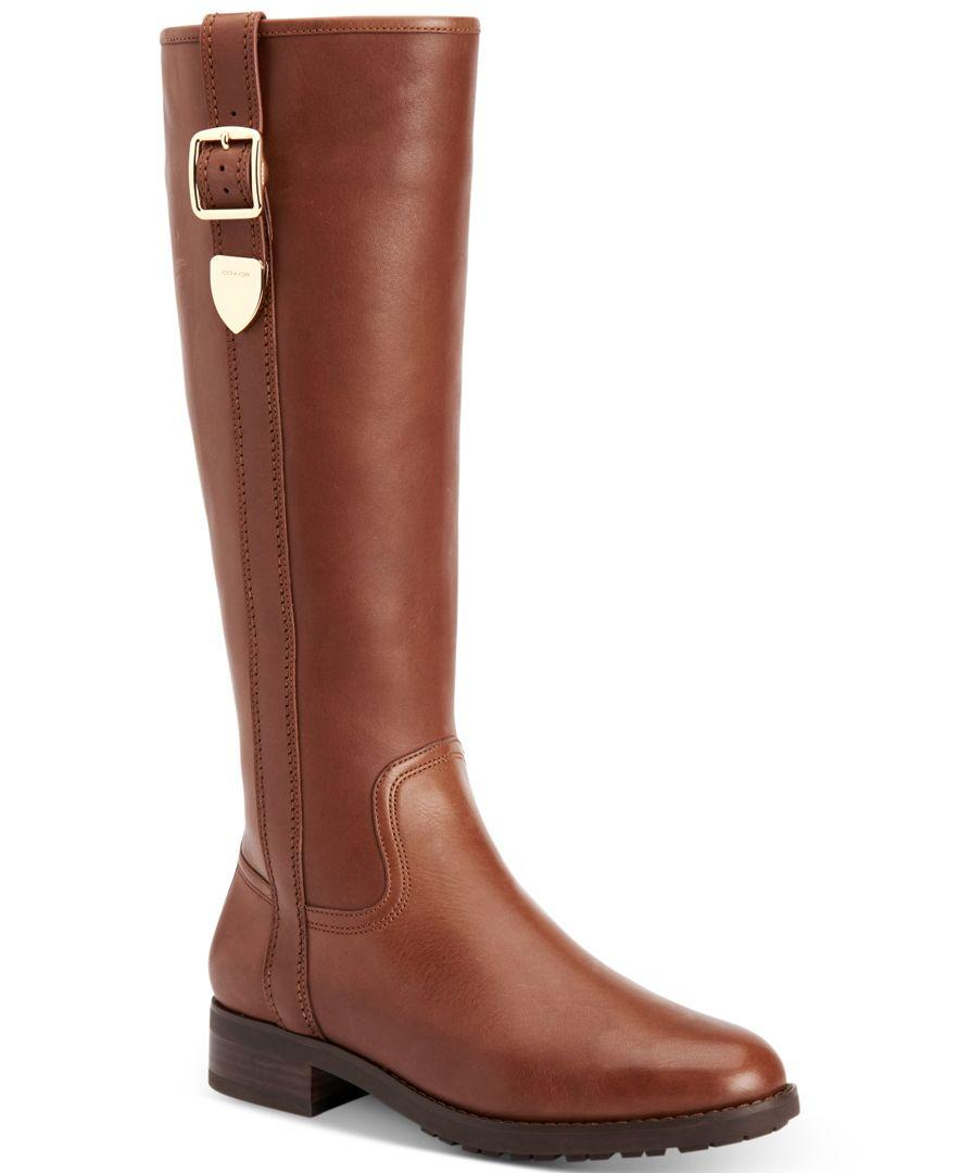 fd4cc75a9b6 Lyst - COACH Easton Riding Boots in Brown